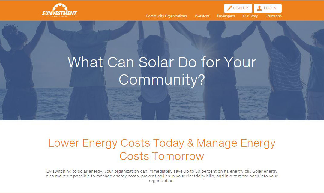 Sunvestment Energy Group Launched by Principals of RER to Address Gaps in Mid-Market Solar Project Financing