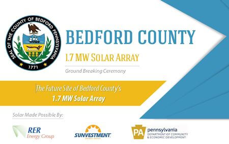 Bedford County Officials Break Ground on Solar Array Developed by RER Energy Group