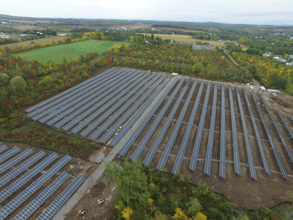 18 Acre Solar Array Up and Running in Geneseo